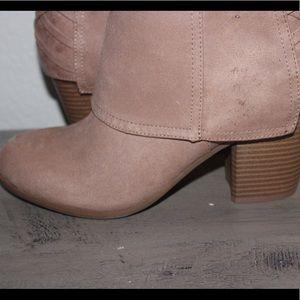 Never worn knee high beige boots